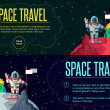 Space travel. Vector illustration in style flat — Stock Vector #78864560