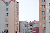 New multi-storey, brick home in the city quarter — Foto Stock