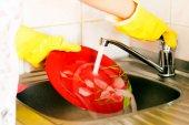 Ware yıkama işlemi — Stok fotoğraf