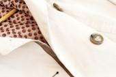 Texture - a white women's coat  — Stock Photo
