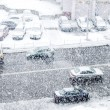 City Road with cars in time of heavy snow — Stock Photo #61789221