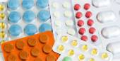 A variety of different colored pills  — Stock Photo