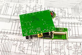 Several circuits of the green  color — Stock Photo