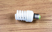 Spiral luminescent economical lamp  — Stock Photo
