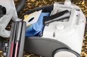 Hoover in a disassembled form with a bag — Stock Photo