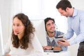 Manager training young attractive people  — Stock Photo
