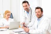 Medical team working at the hospital — Stock Photo