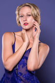 Blue bodysuit — Foto Stock