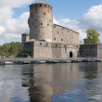 Olavinlinna castle (Olafsborg) in Savonlinna, Finland — Stock Photo #57345999