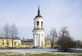 View of the bell tower of St. Sophia Cathedral. Pushkin — 图库照片