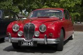 Jaguar Mk.-1 at the gathering of the club of owners of cars brand Jaguar. Turku, Finland — Stock Photo