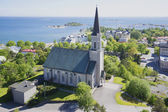 Views of the Evangelical Lutheran Church of Hanko, Finland — Stock Photo