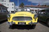 Skoda Felicia cabrio front. The festival of vintage cars in Savonlinna. Finland — Stock Photo