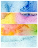 Set of abstract acrylic and watercolor painted background. Paper — Stock Photo