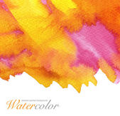 Abstract watercolor painted background. Paper textured. — Photo
