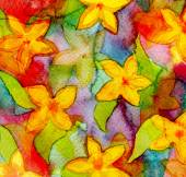 Abstract watercolor hand painted background. Flower pattern. Pap — Stock Photo