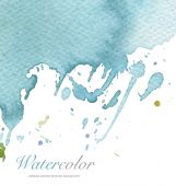 Abstract watercolor blot splash. Textured paper. — Stock Photo