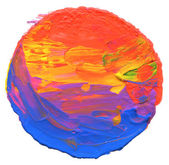 Abstract acrylic and watercolor circle painted background.  — Stock Photo