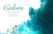 Acrylic colors in water. Abstract background. — Stock Photo