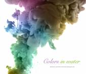 Acrylic colors and ink in water. Abstract background. — Stock Photo