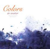 Akrilik renk ve mürekkep su. — Stok fotoğraf