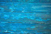 Blauwe houten planken met peeling verf, textuur — Stockfoto