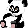 Little panda bear — Stock Vector #61557505
