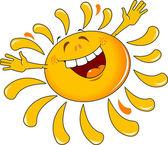 Yellow happy sun — Stock Vector