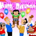 Happy Birthday daughter — Stock Vector #68245491
