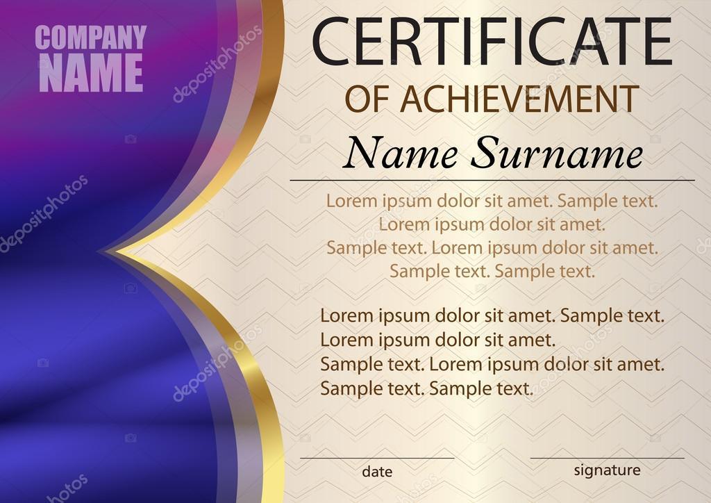 Certificate or diploma template Award winner Reward Winning the – Certificate Winner