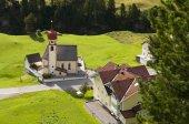 Mountain village church in Tirol, Austria — Stock Photo