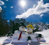 Snowman in Italian Alps — Stock Photo