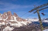 Ski slope in Dolomites, Italy — Stock Photo