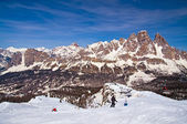 Ski slope in Dolomites, Italy — Foto de Stock