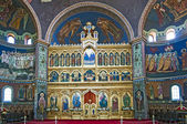 Church interior - iconostasis — Stock Photo