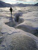 Arctic landscape - glacier surface — Stockfoto
