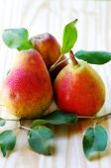 Three ripe pears. — Stock Photo