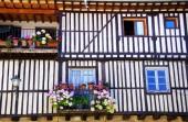 Fachada da vila medieval, la alberca, Espanha — Fotografia Stock