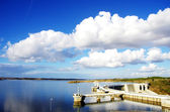 Alqueva dam, Portugal — Foto de Stock