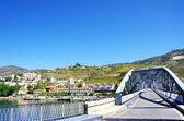 Village of Pinhao and iron bridge — Stock Photo