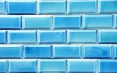 Blue wall texture of tiles — Stock Photo