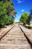 Old Obsolete Train Tracks abandoned — Stock Photo