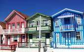 houses of Costa Nova, Aveiro, Portugal — Stockfoto