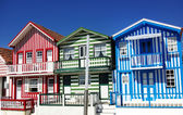 houses of Costa Nova, Aveiro, Portugal — Stock Photo