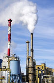 Industrial  factory with tall fume towers — Stock Photo