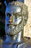 Bronze bust of epic poet, Camoes — Stock Photo