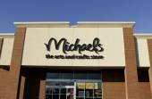 Michaels sign on a store front — Stock Photo