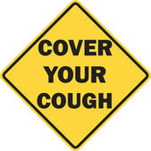 Cover your cough sign isolated — Stock Photo