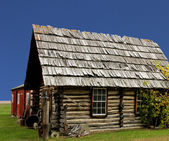 Old rustic log cabin — Stok fotoğraf