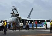 United States Navy F-18 Super Hornet Fighter Jet — Stock Photo